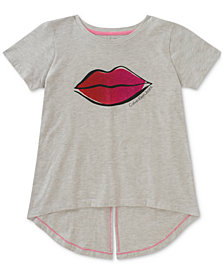 Calvin Klein Glitter Lips Cotton T-Shirt, Big Girls