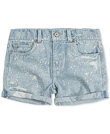 Levi's® Cotton Girlfriend Shorty Shorts, Big Girls
