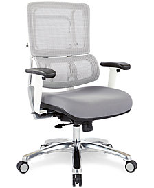 Adkin Mesh Office Chair - White, Quick Ship