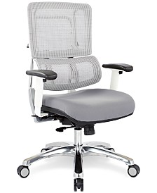 Adkin Mesh Office Chair - White, Quick Ship
