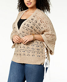 Love Scarlett Plus Size Lace-Up Sweater