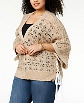 9332a1ec964a Love Scarlett Plus Size Lace-Up Sweater