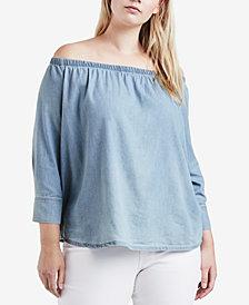 Levi's® Plus Size Cotton Off-The-Shoulder Top