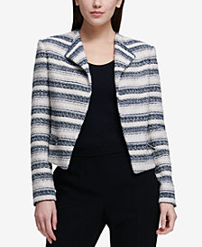 DKNY Tweed Moto Jacket, Created for Macy's