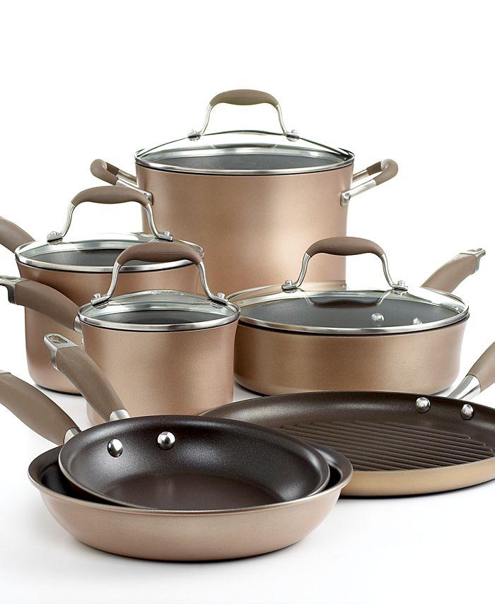 Anolon - Advanced Bronze Cookware Set, 11 Piece Hard Anodized Nonstick