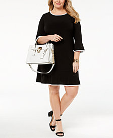 MICHAEL Michael Kors Plus Size Flounced Shift Dress