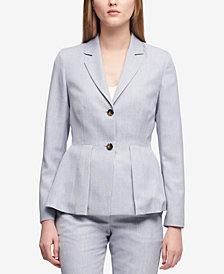 DKNY Two-Button Peplum Blazer, Created for Macy's