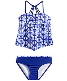 Summer Crush 2-Pc. Printed Handkerchief Tankini, Big Girls