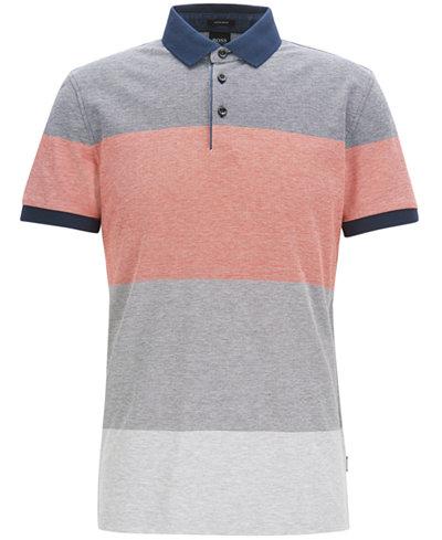 BOSS Men's Regular/Classic-Fit Cotton Piqué Polo
