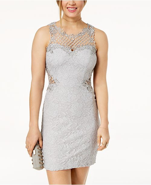 City Studios Juniors Glitter Lace Bodycon Dress Reviews