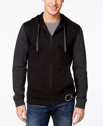 Calvin Klein Jeans Men's Colorblocked Zip-Front Sweatshirt