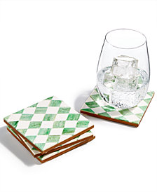 Global Goods Partners Set of 4 Rhombus Coasters
