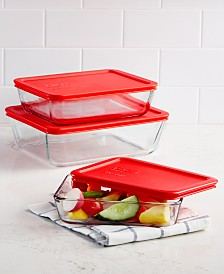 Pyrex 6-Pc. Rectangular Storage Set