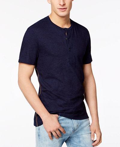 Calvin Klein Jeans Men's Heathered Henley