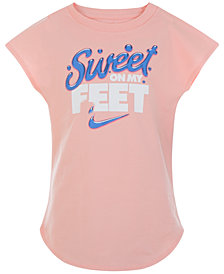 Nike Sweet-Graphic Cotton T-Shirt, Little Girls