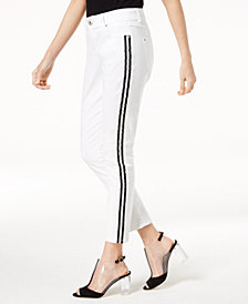 I.N.C. Curvy-Fit Side-Stripe Skinny Jeans, Created for Macy's