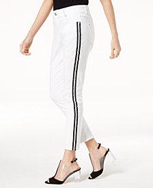 I.N.C. Side-Stripe Skinny Jeans, Created for Macy's