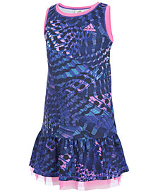 adidas Printed Sports Dress, Little Girls