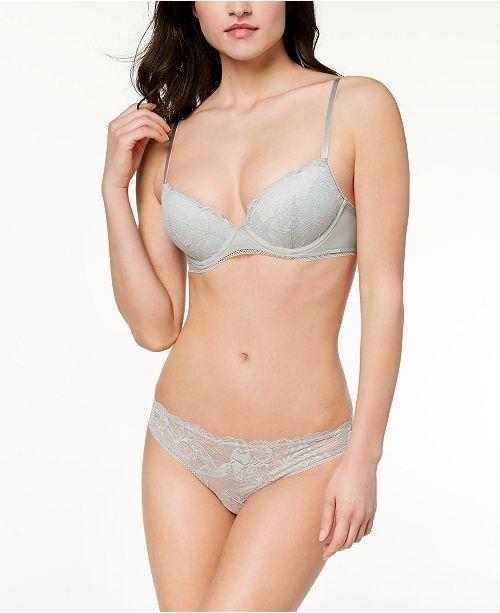 88977cae4fd63 Calvin Klein Bird Lace Demi Bra   Thong   Reviews - Bras