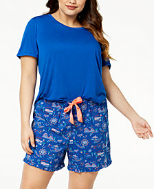 Jenni by Jennifer Moore Plus Size Solid Pajama T-Shirt, Created for Macy's