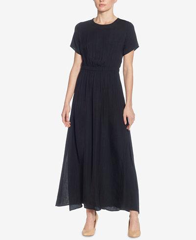 Catherine Malandrino Lau Keyhole Blouson Maxi Dress