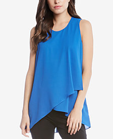 Karen Kane Asymmetrical Layered-Hem Top