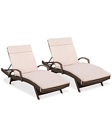 Ashley Outdoor Chaise Lounge (Set Of 2), Quick Ship