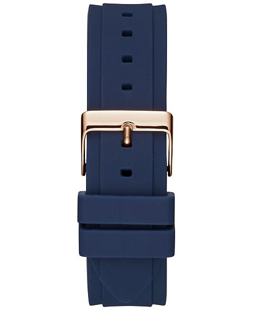e5587046092f3 GUESS Women s Blue Silicone Strap Watch 39mm   Reviews - Watches ...