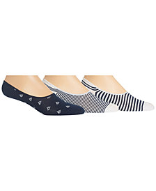 Polo Ralph Lauren Men's 3-Pk. Sailboats Printed Sock Liners
