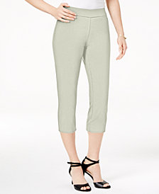 JM Collection Petite Pull-On Capri Pants, Created for Macy's