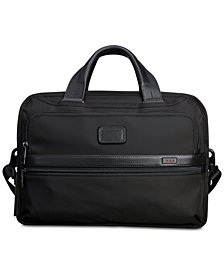 Tumi Men's Alpha Bravo Triple-Compartment Briefcase