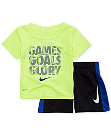 Nike 2-Pc. Glory-Print T-Shirt & Shorts Set, Baby Boys