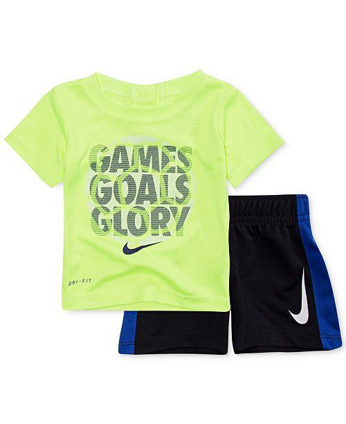 796aa6e9e Nike 2-Pc. Glory-Print T-Shirt & Shorts Set, Baby Boys & Reviews ...
