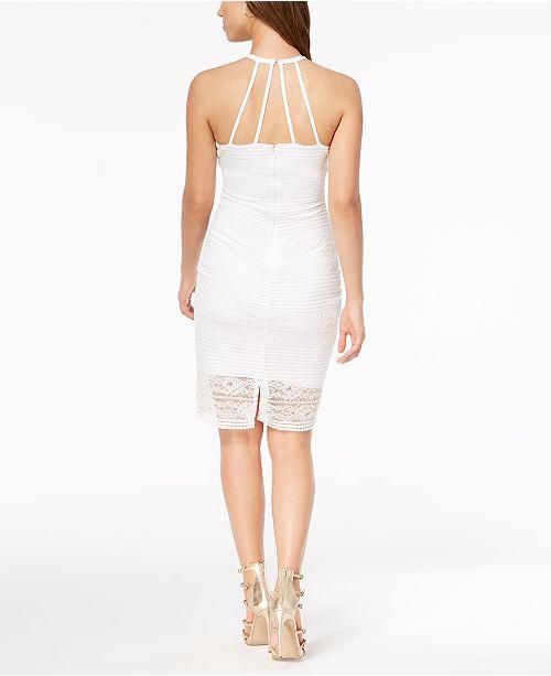 Guess Lace Illusion Halter Dress Dresses Women Macy S