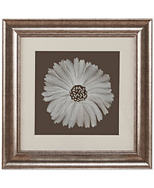 "Harbor House Bloom Decorative Embroidered Flower 23"" x 23"" Framed Wall Art"