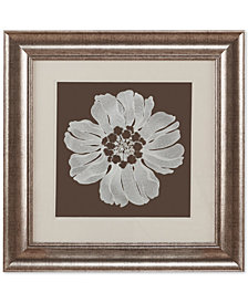"""Harbor House Floral Decorative Embroidered Flower 23"""" x 23"""" Framed Wall Art"""