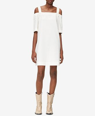 Calvin Klein Jeans Cotton Cold-Shoulder-Dress