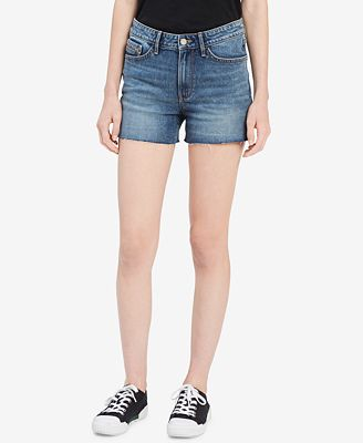 Calvin Klein Jeans Cutoff Denim Shorts
