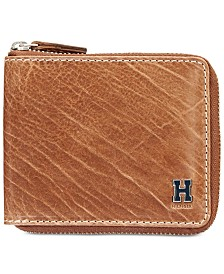 Tommy Hilfiger Men's Darin Leather Zip Wallet
