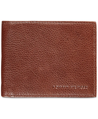 Men's York Leather Billfold Wallet by Tommy Hilfiger