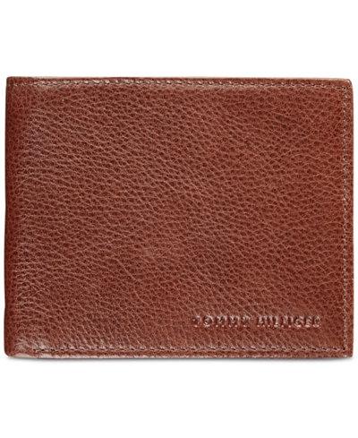 Tommy Hilfiger Men's York Leather Billfold Wallet
