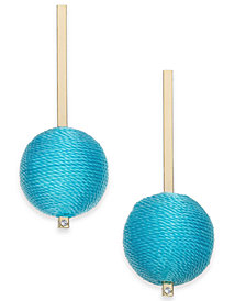 I.N.C. Gold-Tone Colored Tread-Wrapped Ball Drop Earrings, Created for Macy's