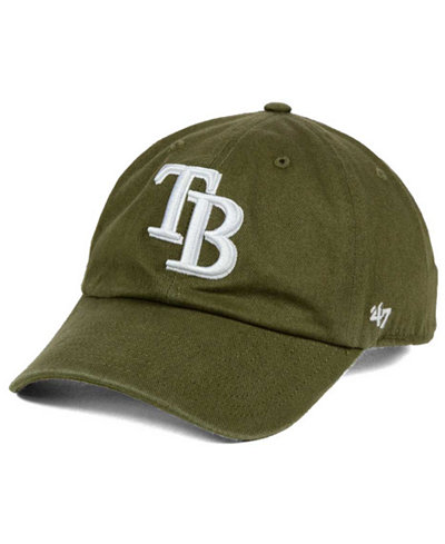 '47 Brand Tampa Bay Rays Olive White CLEAN UP Cap