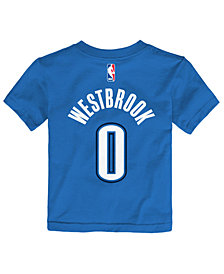 Nike Russell Westbrook Oklahoma City Thunder Replica Name & Number T-Shirt, Toddler Boys (2T-4T)