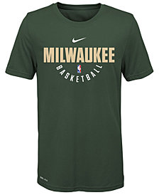 Nike Milwaukee Bucks Elite Practice T-Shirt, Big Boys (8-20)