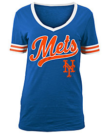 5th & Ocean Women's New York Mets Retro V-Neck T-Shirt