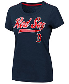 G-III Sports Women's Boston Red Sox Script Foil T-Shirt