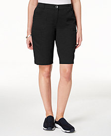 Karen Scott Mid-Rise Cotton Shorts, Created for Macy's