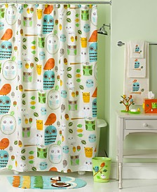 Creative Bath Accessories, Give a Hoot Shower Curtain
