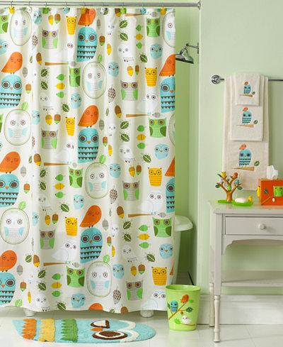 Creative Bath Accessories Give A Hoot Shower Curtain